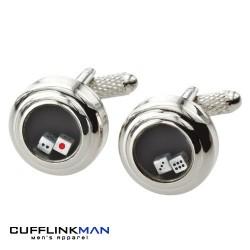 Dice Tumbler cufflinks (moving dice)