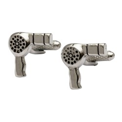 Hair Dryer Cufflinks - Cufflinks for Hairdressers