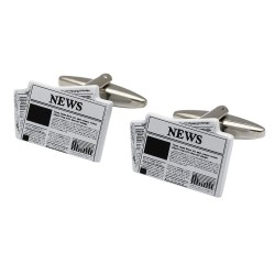 Newspaper Cufflinks - Read All About It