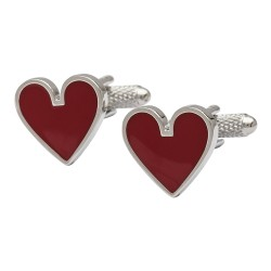 Hearts Playing Card Suits Cufflinks