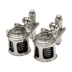 Fishing Reel Cufflinks - Silver Edition