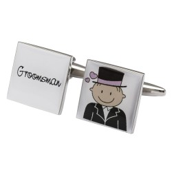 Smile Pink Design - Groom & Groomsman Cufflinks