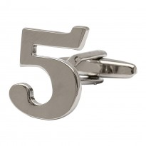 Number 5 Cufflink - Numbers Cufflinks