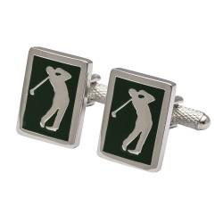 Green Golfer Cufflinks