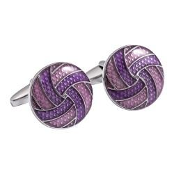 Jos Von Arx - Designer Purple Swirl Cufflinks