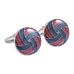 Blue and Burgundy Swirl Cufflinks