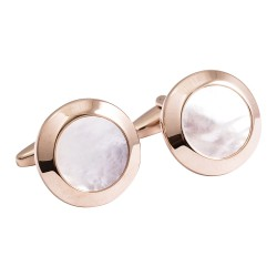 Jos Von Arx - Designer Rose Gold Mother of Pearl Cufflinks