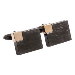 Jos Von Arx - Black and Rose Gold Designer Modern Cufflinks