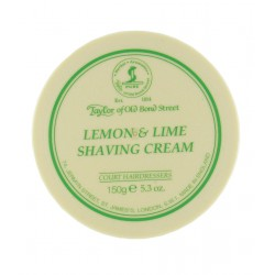 Lemon and Lime Traditional Shaving Cream - Taylor of Bond Street - 150g