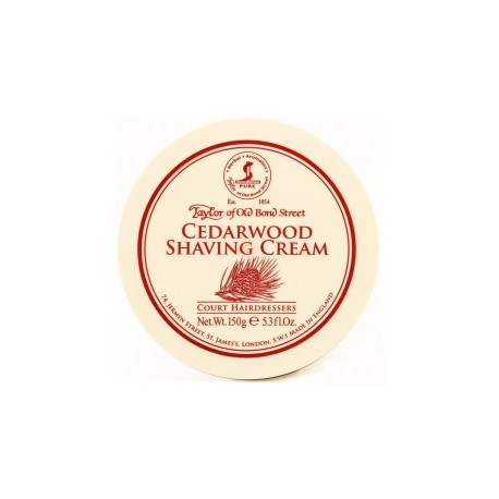Cedarwood Traditional Shaving Cream - Taylor of Bond Street - 150g