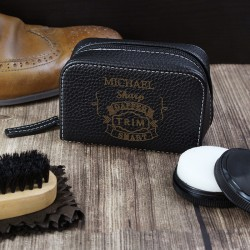 Personalised Vintage Typography Shoeshine Kit