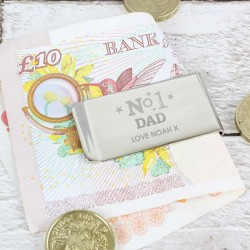 Personalised No 1 Money Clip