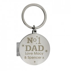 No1 Dad Photo Keyring - Personalised Key Ring