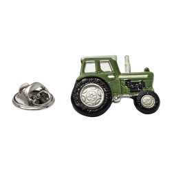 Green Tractor Lapel Pin - Tractor Lapel Badge By Onyx-Art London