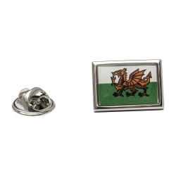 Welsh Flag Lapel Pin - Flag of Wales Lapel Badge By Onyx-Art London