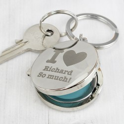I heart Photo Keyring - Personalised with Name