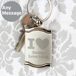 Any Message I Heart Photo Frame Keyring - Personalised