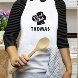 Head Chef Apron Personalise with a Name
