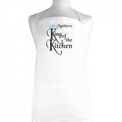 King of The Kitchen Apron Personalise with a Name