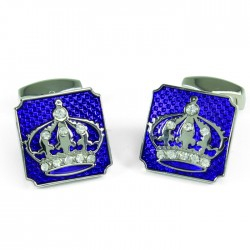 Crown on Purple Cufflinks