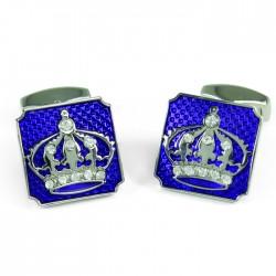 Crown on Purple Cufflinks