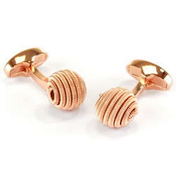 Rose Gold Spiral Cufflinks