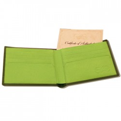Green Leather Wallet - COLE BROTHERS