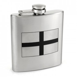 St George Cross Flag Hip Flask