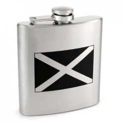 St Andrews Cross Hip Flask - Scottish Flag Hip Flask