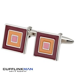 Cubic Red Trio Cufflinks