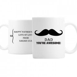 Moustache Mug - Personalised Mug