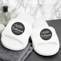 Mr Velour Slippers - Personalised