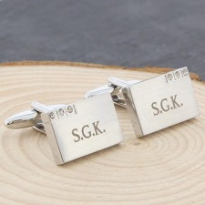 Personalised Crystal Cufflinks