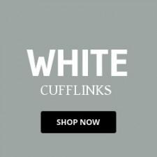 White Cufflinks