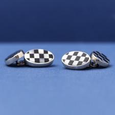Chain Link Silver Cufflinks