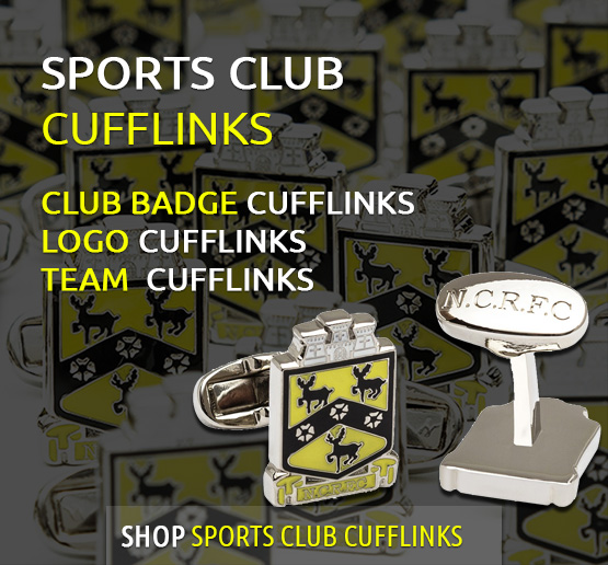 personalised sports club cufflinks