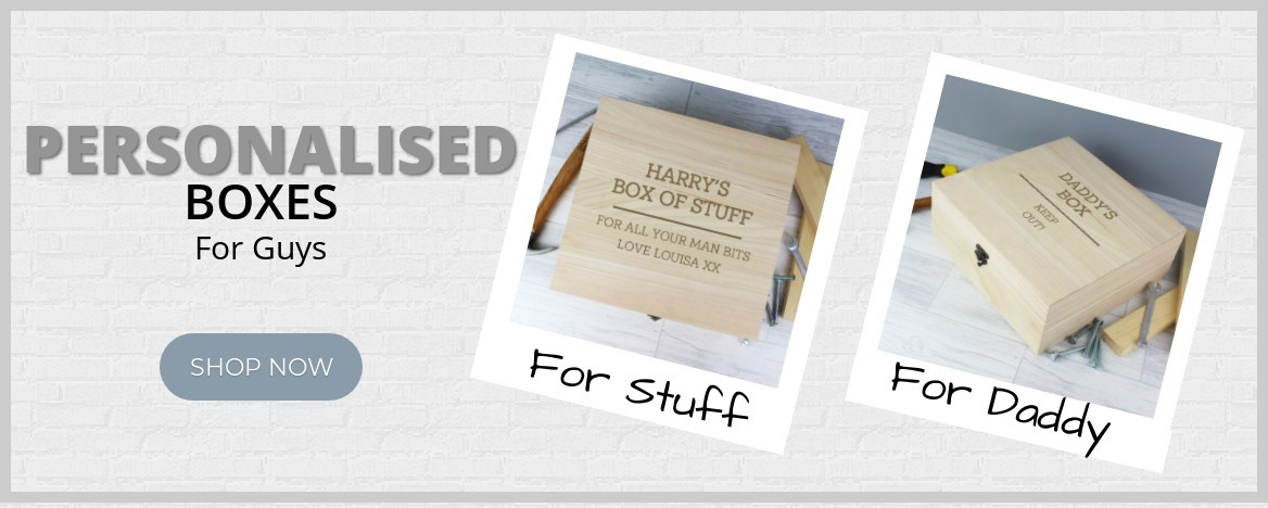 Personalised Keepsake Boxes For Guys