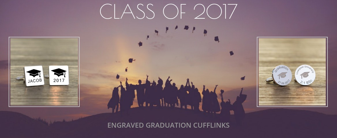 Engraved Graduation Cufflinks