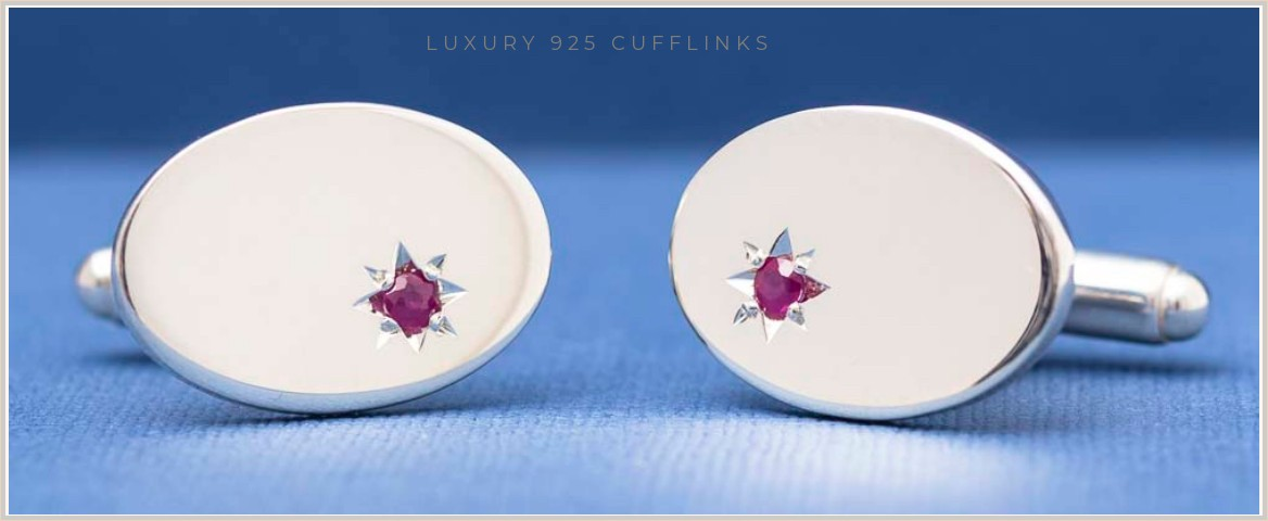 LUXURY STERLING SILVER CUFFLINKS