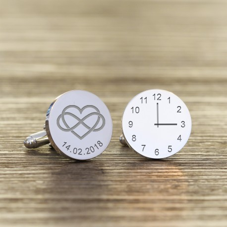 TIME AND DATE CUFFLINKS >